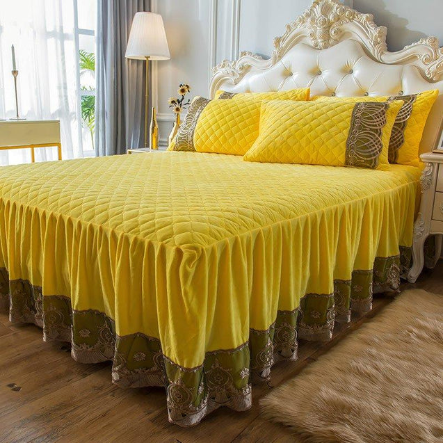 【Free Shipping】4pcs European Jacquard Cotton Bedding Set