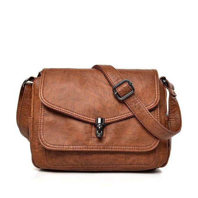 Vintage Genuine Leather Cross-body Bag