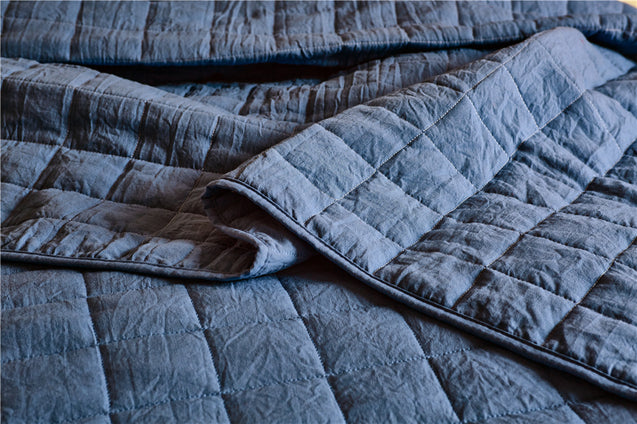 Driftaway Victoria 3 Pieces Bedding Quilted Duvet Cover, Stitched Pattern, 1 Quilted Duvet Cover, 2 Pillow Shams
