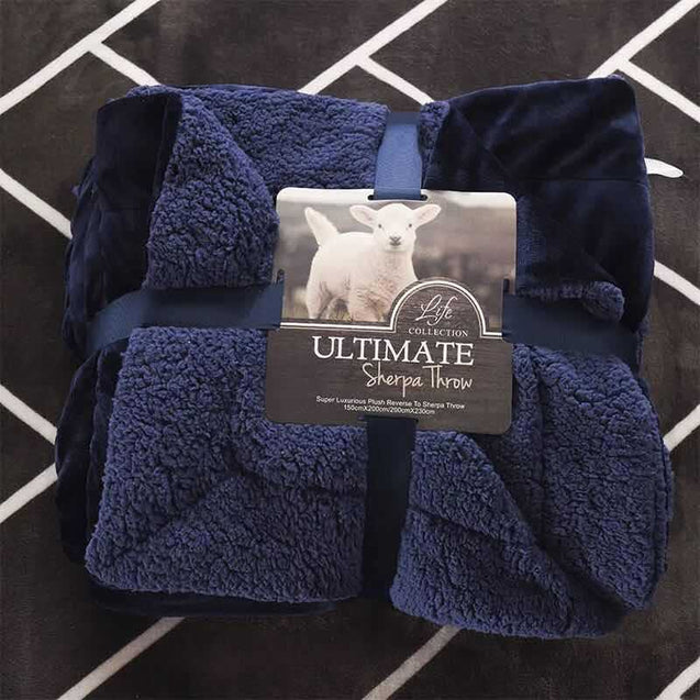 Double-sided double lamb cashmere thickened winter blanket