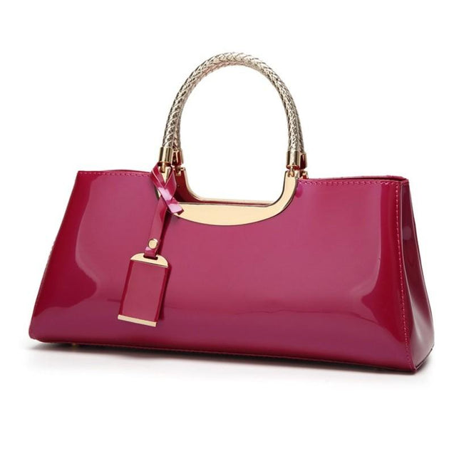 PU Patent Leather Handbag