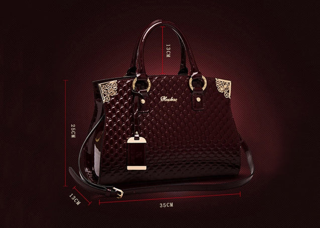 Genuine Patent Leather luxury Handbags