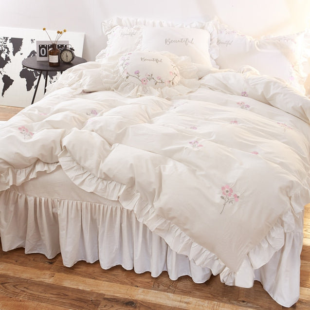 100%cotton bedding sets twin queen king size bed sheet duvet cover set