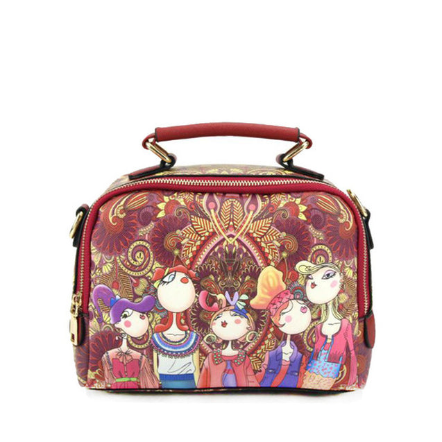 Green Cartoon Handbag