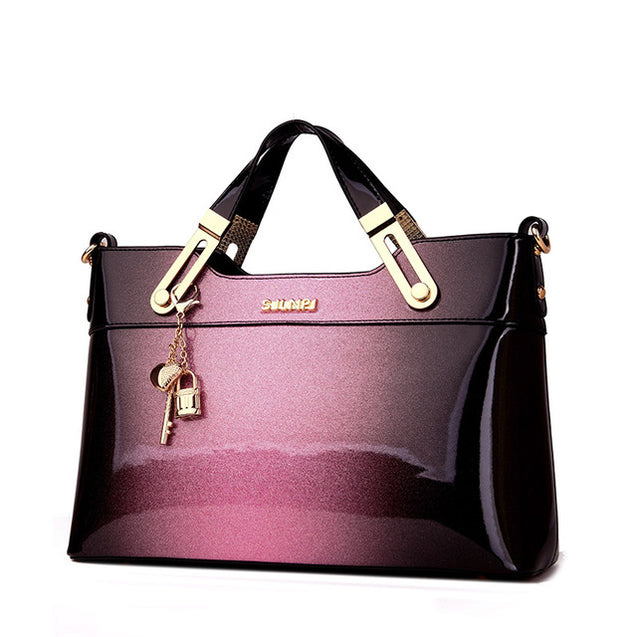 New Designer patent Leather Handbag