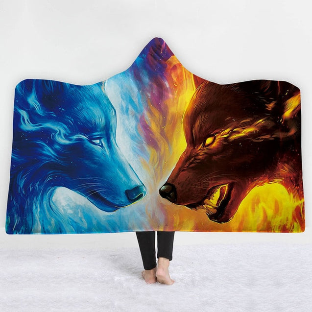 Warm Thick Animal Hooded Blanket