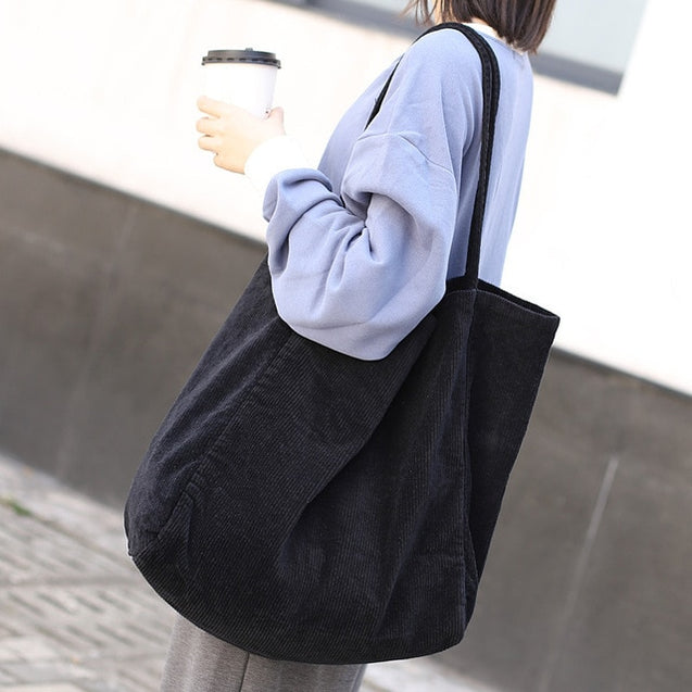 Large Capacity Tote Handbag Folding Reusable Shopping Bags Thin Strap Cloth Bags