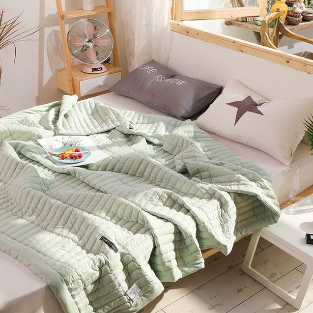 Solid Color Macaron Soft Comfortable Quilts