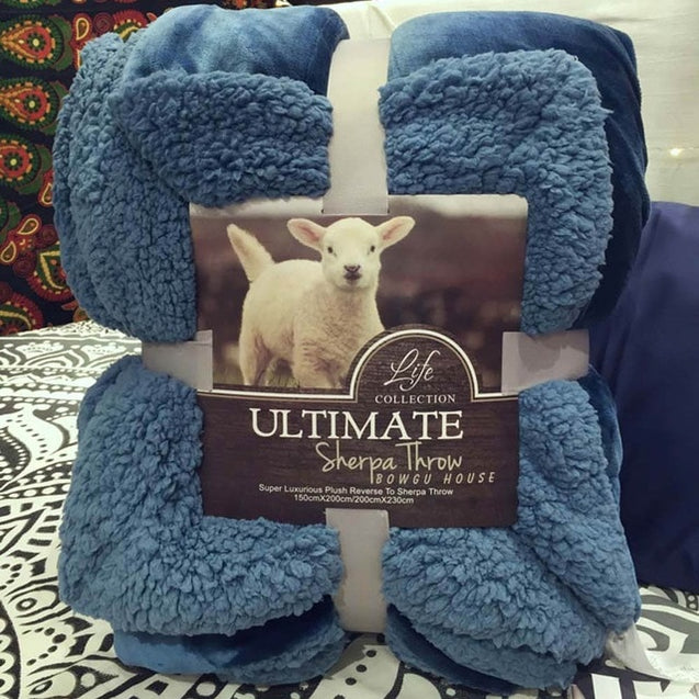 Large Warm Double-side Cashmere Blanket weighted Coverlet for Bed or Couch
