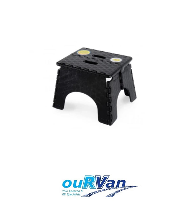 CAMEC EZ-FOLD STEP STOOL BLACK 000736 CARAVAN RV CAMPER TRAILER
