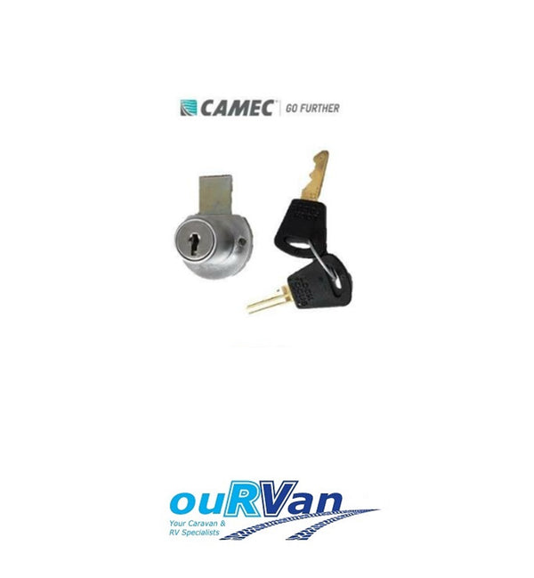 CARAVAN ACCESS DOOR LOCK CAMEC 008231 WITH KEYS 16MM SLIDING TONGUE RETRO STYLE