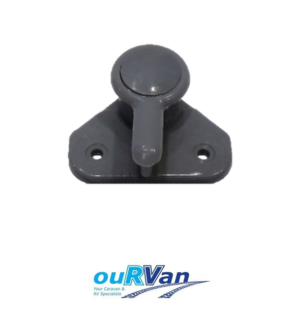 VISCOUNT WINDOW KNOB LOCK HANDLE GREY CARAVAN W0108 008556