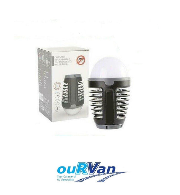 RECHARGEABLE PORTABLE MOSQUITO MOZZIE KILLER BULB BUG ZAPPER LANTERN 0349 LIGHT CARAVAN
