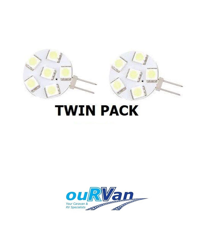 CARAVAN CAMPER LED G4 SIDE PIN 6 LED REPLACEMENT TWIN PACK 040173 NARVA CAMEC