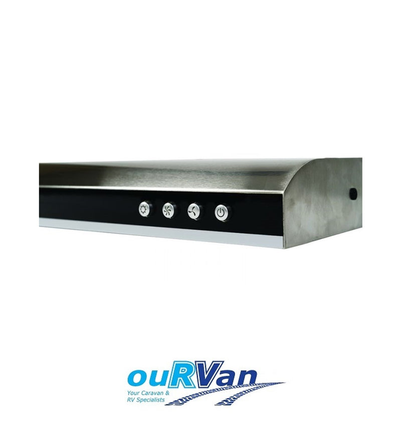 CARAVAN RANGE HOOD 12 VOLT 2-SPEED WITH LED DOWN LIGHTS MOTORHOME BOAT RV 040864
