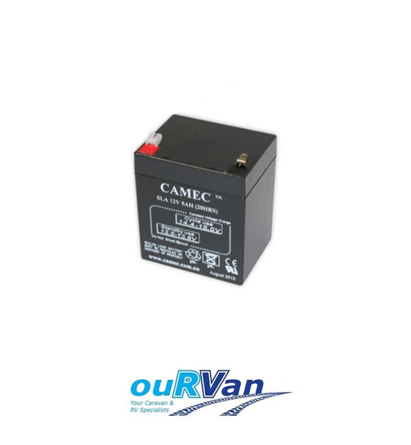 CAMEC 041767 REPLACEMENT BATTERY 12V 5AH SUIT BREAKAWAY SYSTEM CARAVAN