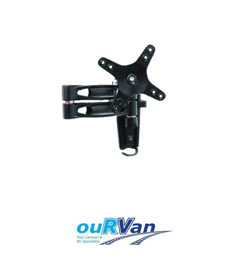 CAMEC CARAVAN TV BRACKET RV MEDIA 2 ARM 042163 MULTI FIT MOUNT INCLUDED