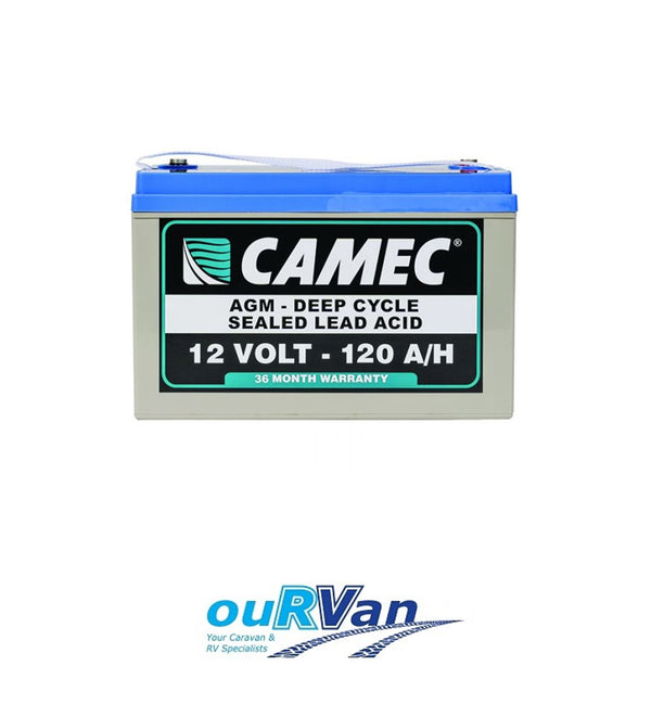 CAMEC 120AH SLA AGM BATTERY 043165 CARAVAN MOTORHOME CAMPER TRAILER RV POP TOP