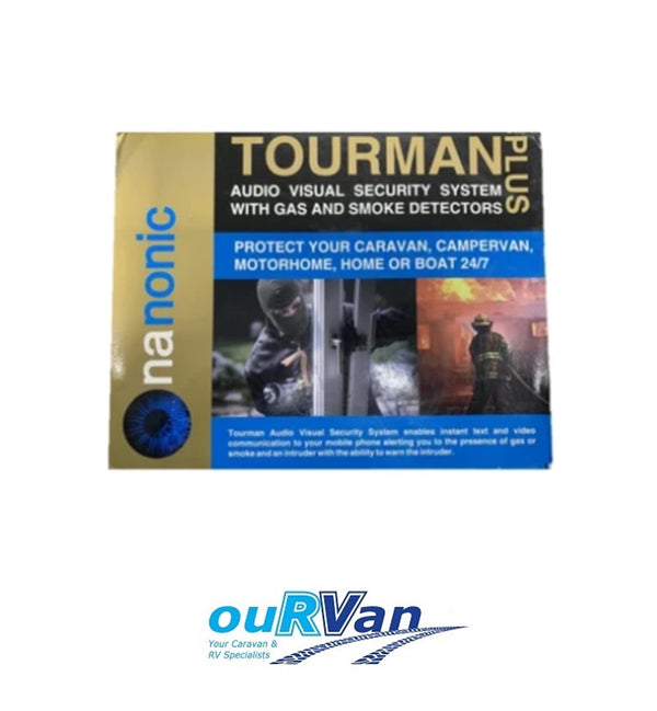 TOURMAN PLUS AUDIO VISUAL SECURITY SYSTEM WITH GAS AND SMOKE ALARM 040597 10224