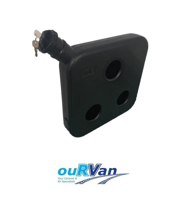 10L DIESEL HEATER TANK- BLACK LOCKABLE