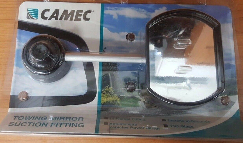 PAIR OF CAMEC 040656 SUCTION CUP GLASS TOWING MIRRORS UNIVERSAL FITTING CARAVAN