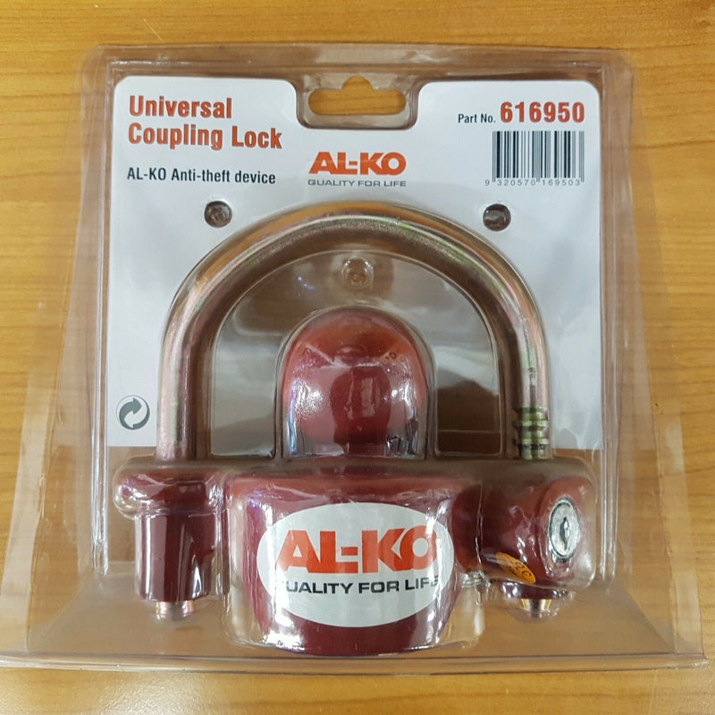 ALKO UNIVERSAL COUPLING HITCH LOCK ANTI THEFT CARAVAN TRAILER BOAT 616950