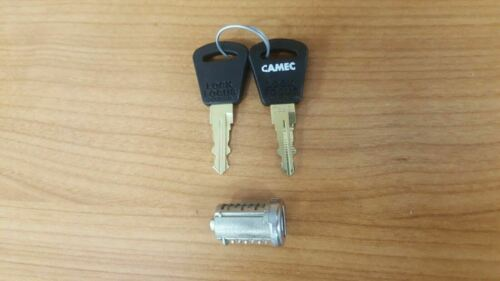 CAMEC ENTRY DOOR BARREL AND KEY SET 2 KEYS 014392 JAYCO 3 POINT LOCK 3P