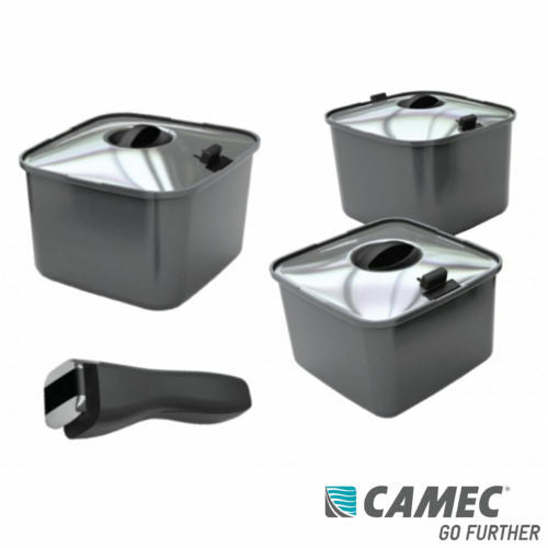 SMART SPACE CARAVAN CAMPING SMARTSPACE SAVER POT SET WITH LIDS 040367