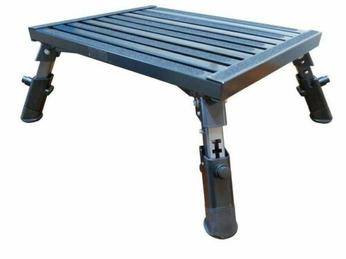 SUPEX STP4 ADJUSTABLE FOLDING CARAVAN STEP MOTORHOME CAMPER TRAILER ALUMINIUM