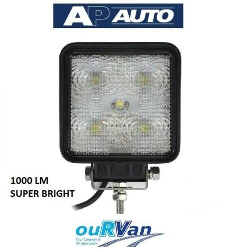 AP14160 LED SQUARE REVERSE WORK LIGHT 1000LM CARAVAN TRUCK TRAILER 4X4 RV