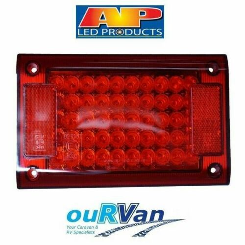 AP JUMBO LIGHT RED LED INSERT MODULE RETROFIT NARVA COMBO AP10888 CARAVAN TRUCK