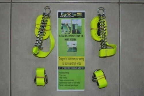 AWNING STORM TIE DOWN STRAPS SUPAPEG ASTD