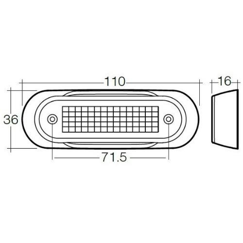 NARVA 90812BL 10-30V MODEL 8 LED FRONT END OUTLINE MARKER LAMP