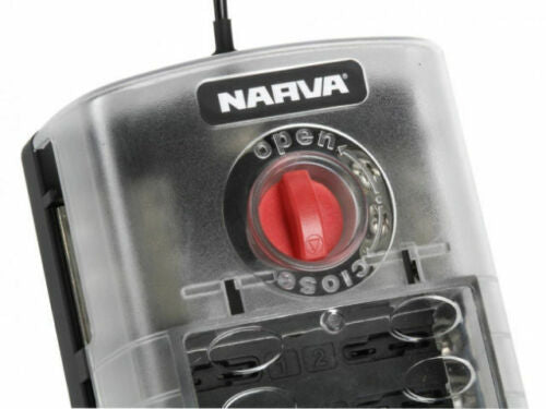 NARVA 12 WAY FUSE BLOCK BOX HOLDER BLADE 54450 DUAL BATTERY 12V CARAVAN