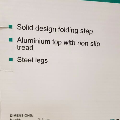 CAMEC ALUMINIUM PORTABLE STEP FOLDING FOLD UP CARAVAN RV CAMPING NON SLIP 041599