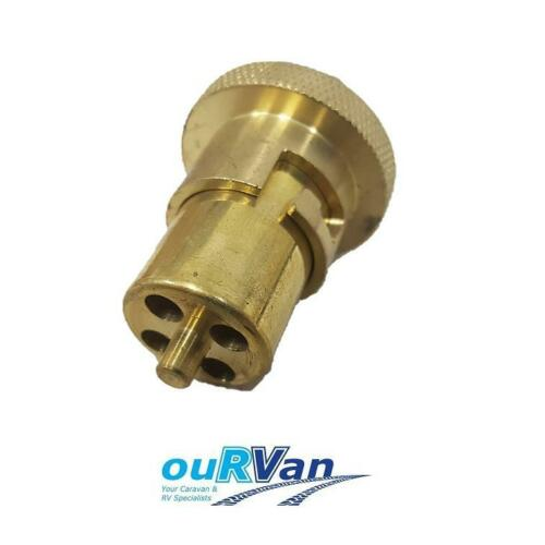 "CARAVAN BRASS GAS BAYONET MALE FITTING FOR FLOOR SOCKET 1/4"" BSP 033800 52-BA04"