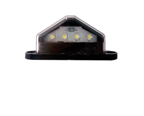 AP AP11845 LED LICENCE PLATE LAMP LIGHT BLACK CARAVAN CAMPER TRAILER MOTORHOME
