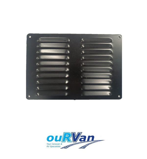 150MM X 220MM FLUTED ALUMINIUM VENT - BLACK