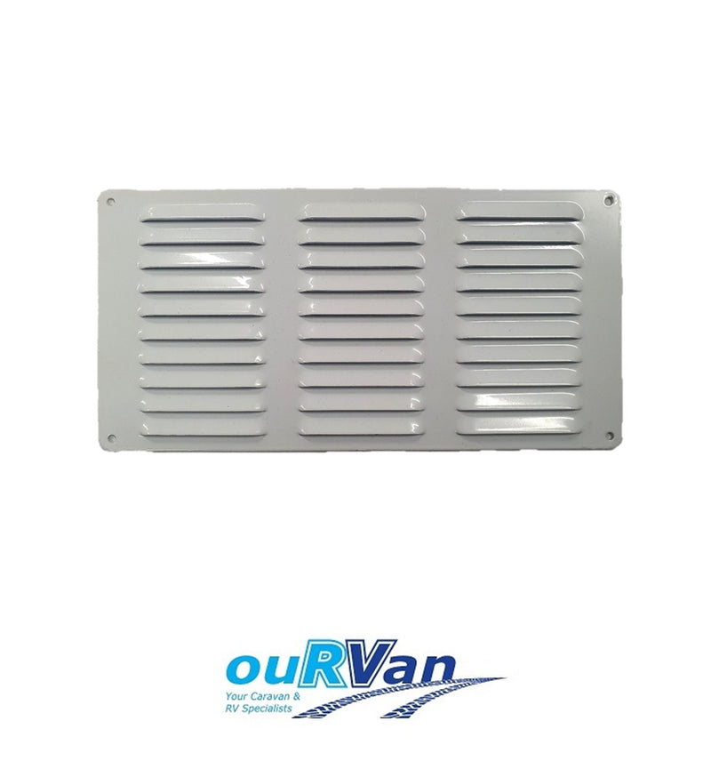 150MM X 300MM FLUTED ALUMINIUM VENT - WHITE