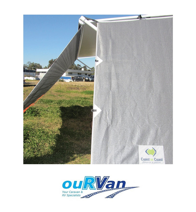 CARAVAN AWNING PRIVACY SCREEN SIDE END WALL V2 COAST 200-09212