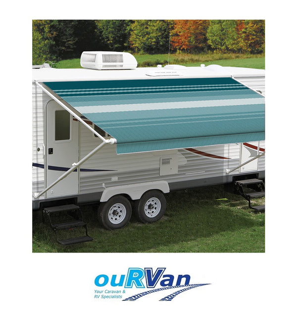 CAREFREE 11FT TEAL DUNE ROLL OUT AWNING (NO ARMS). FF118C00HM 200-36310