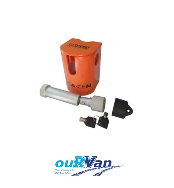 FULLSTOP™ SARACEN HITCH COUPLING LOCK CARAVAN TRAILER SHL100 450-06081 ORANGE