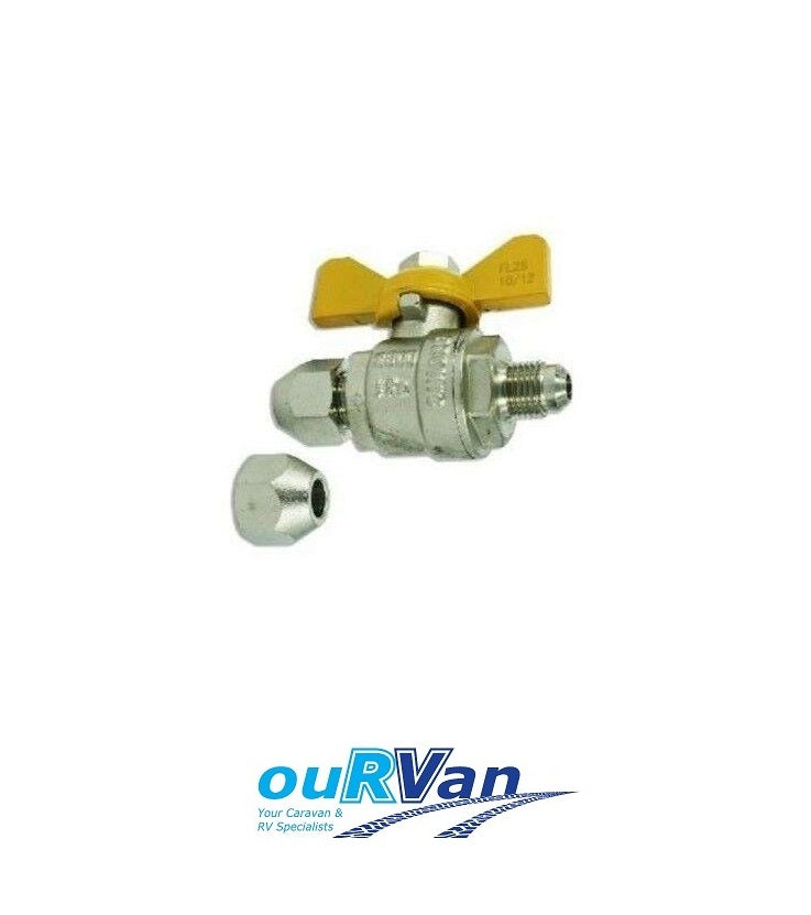 "5/16"" DOUBLE FLARE BALL ISOLATION VALVE"