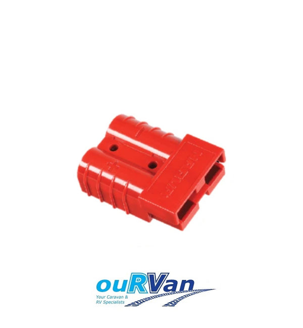 Narva Red Heavy Duty 50 Amp Connector Housing with Copper Terminals 57200R