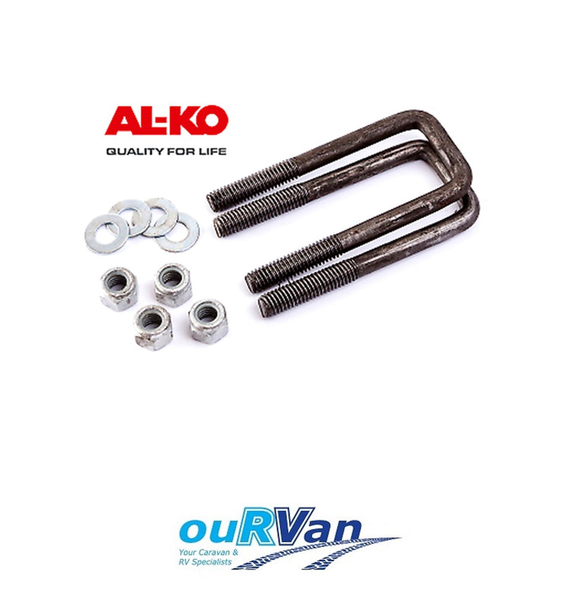 ALKO 598040 U BOLT KIT SUIT 40mm Square Axle CARAVAN TRAILER CAMPER AL-KO
