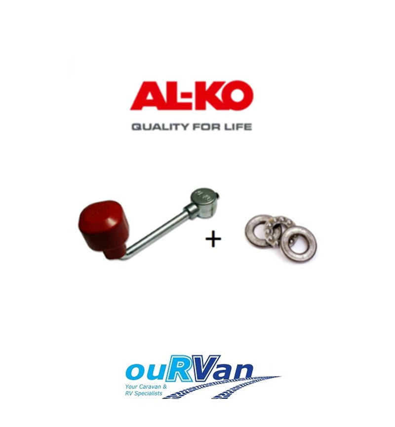 ALKO JOCKEY WHEEL HANDLE 629610 (GRUB SCREW) & THRUST BEARING 629602