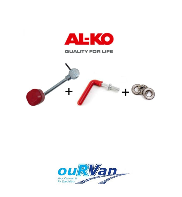 ALKO JOCKEY WHEEL HANDLE 629626 (PIN MOUNT) & THRUST BEARING 629602