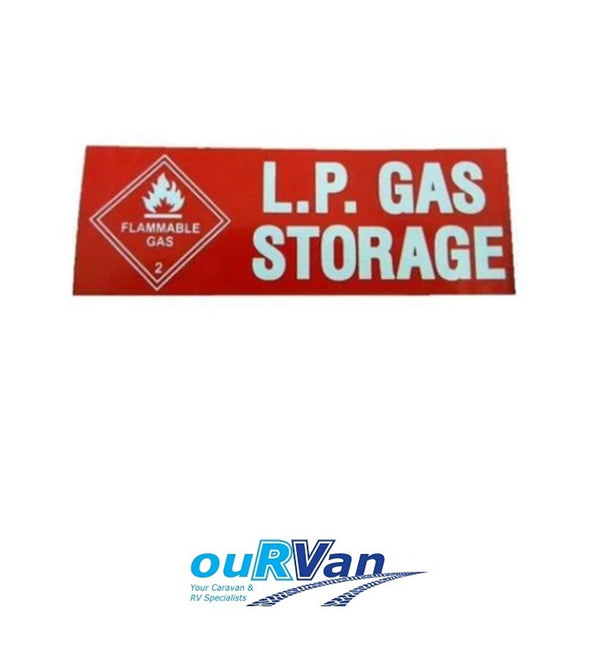 LPG GAS STORAGE STICKER CARAVAN RV MOTORHOME CAMPER TRAILER