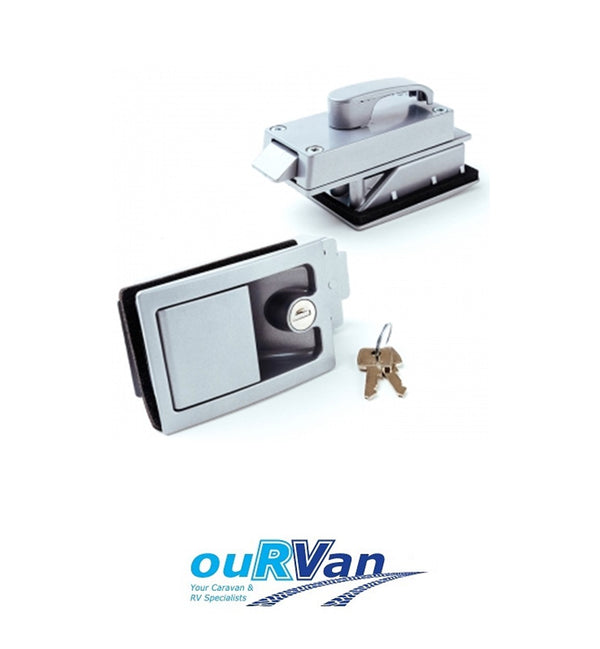 MTM RECESSED CARAVAN DOOR LOCK - SUIT JAYCO WINDSOR STATESMAN