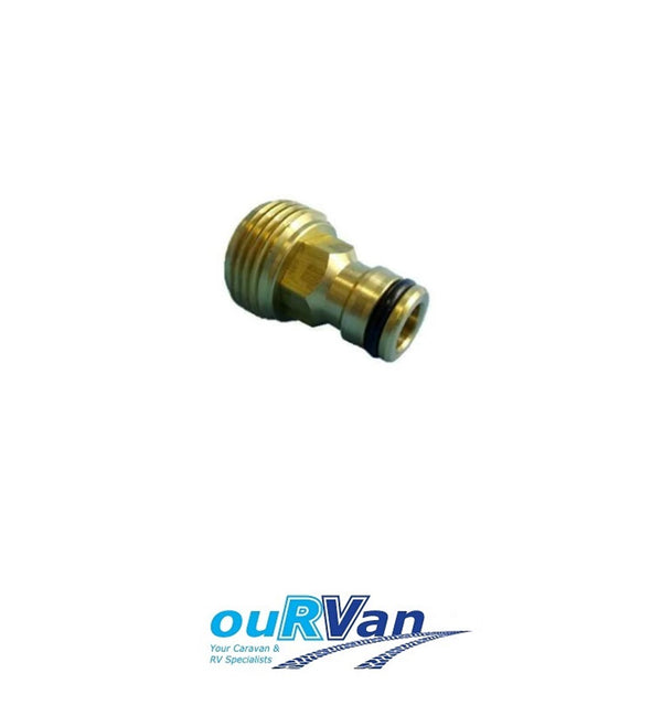 BRASS CLICK ON CONNECTOR CARAVAN WATER INLET ADAPTER NETA 800-01992 MAINS